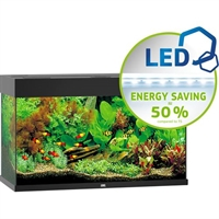 125 liter Juwel akvarie MODEL RIO 125 LED Sort L. 81 x B. 36 x H. 50 cm.