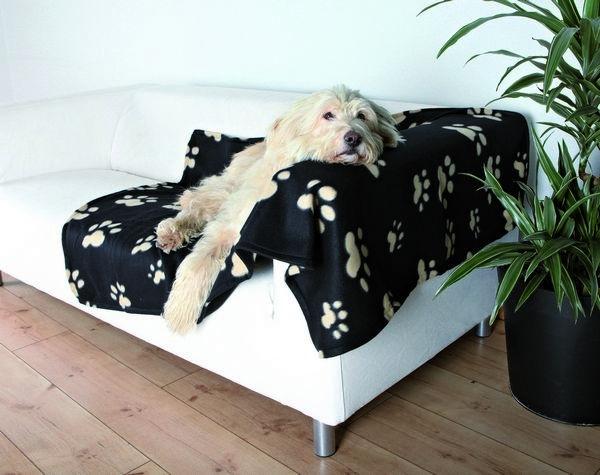 Barney fleece tæppe 150x100 cm sort